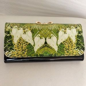 Ted Baker lovebird patent leather wallet